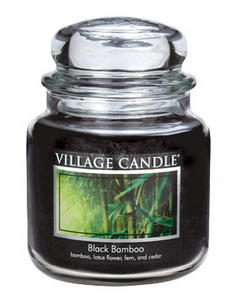 Black bamboo/16oz Glas